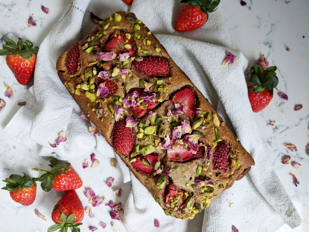 adria wu strawberry buckwheat loaf
