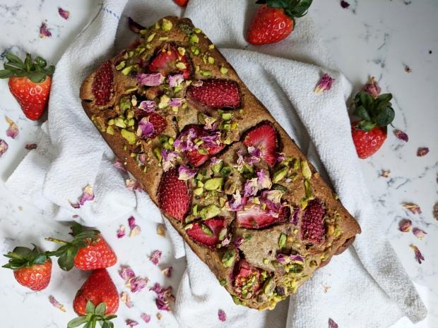 adria wu strawberry buckwheat loaf