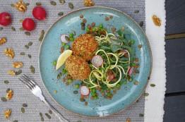 Salmon Cake + Green Life Salad